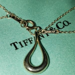 TIFFANY PERETTI OPEN TEAR DROP PENDANT